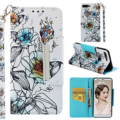 Θήκη Za Huawei Honor 7C(Enjoy 8) Novčanik / Utor za kartice / Zaokret Stražnja maska Cvijet Tvrdo PU koža