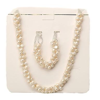 povoljno Trake i žice-Bijela Slatkovodni biser Moderna Komplet nakita - Biseri blažen Glam, Moda, Elegantno Obala Za Zabave Dar Žene