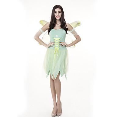 Patuljak Vila Kostim Odrasli Žene Halloween Halloween Karneval Maškare Festival / Praznik Til Polyster Zelen Karneval kostime Anđeo