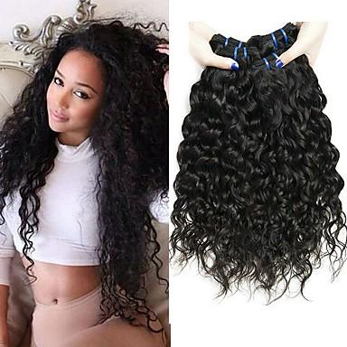 4 paketića Water Wave Virgin kosa Remy kosa Ljudske kose plete Styling kose Produžetak 8-28 inch Prirodna boja Isprepliće ljudske kose Odor Free Novi Dolazak Gust Proširenja ljudske kose