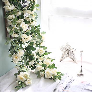 Umjetna Cvijeće 1 Podružnica Zidno postavljanje suspendirana Vjenčanje Pastoral Style Roses Zidno cvijeće