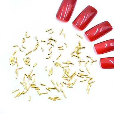 Metal Nakit za nokte Za Prst noktiju Nokti na nogama Mini Style / Sigurnost / 3D sučelje Totem Series Nakit serije Romantična serija nail art Manikura Pedikura Mértani / Rock Božić / Special Occasion