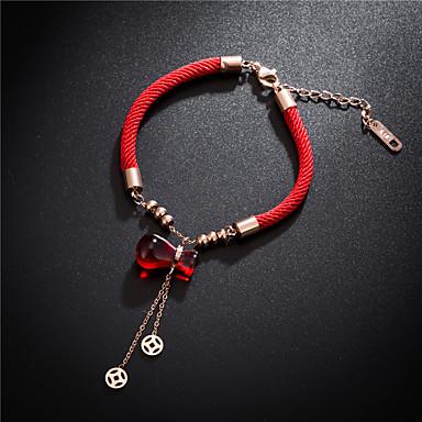 Uže Narukvica - Titanium Steel Sretan dame, Simple Style, Moda Red Za Party Dnevno Žene