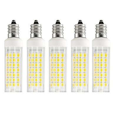 5pcs 6 W LED klipaste žarulje 750 lm E12 T 88 LED zrnca SMD 2835 Toplo bijelo Hladno bijelo 85-265 V