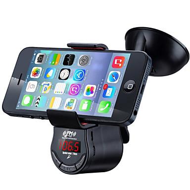 Недорогие Bluetooth гарнитуры для авто-yuanyuanbbenben fm09 многофункциональный автомобильный комплект громкой связи FM-передатчик mp3 аудио плеер с креплением на присоске для мобильного телефона GPS