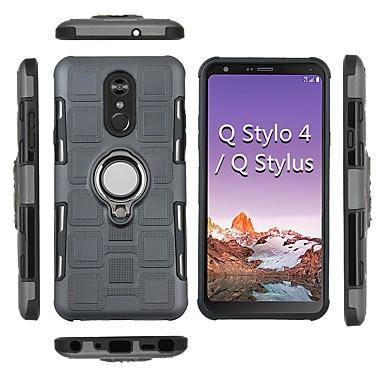 Недорогие Чехлы и кейсы для LG-Кейс для Назначение LG LG Q Stylus / LG Stylo 4 Защита от удара / Кольца-держатели Кейс на заднюю панель броня Твердый ПК