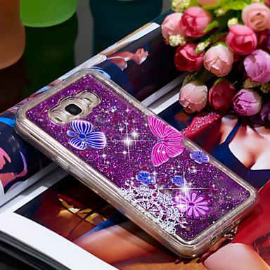 Θήκη Za Samsung Galaxy J7 (2016) Otporno na trešnju / Šljokice Stražnja maska Rukav leptir / Šljokice Mekano TPU