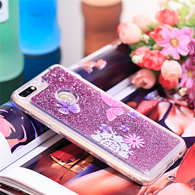 Θήκη Za Huawei Honor 7C(Enjoy 8) Otporno na trešnju / Šljokice Stražnja maska Rukav leptir / Šljokice Mekano TPU