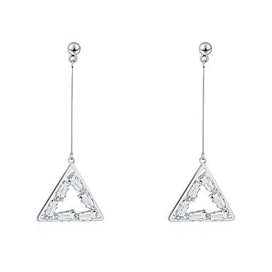 Metal Naušnica - Kubični Zirconia, S925 Sterling Silver Dijamant Europska, Simple Style, Moda Zlato / Pink Za Party Dnevno Žene / 1 par