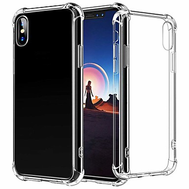 voordelige iPhone X hoesjes-hoesje Voor Apple iPhone XS / iPhone XR / iPhone XS Max Schokbestendig Achterkant Effen Zacht TPU