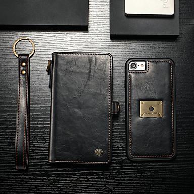 voordelige iPhone-hoesjes-hoesje Voor Apple iPhone 8 / iPhone 7 Portemonnee / Kaarthouder / Flip Volledig hoesje Effen Hard PU-nahka