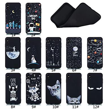 Недорогие Кейсы для iPhone-Кейс для Назначение Apple iPhone XS / iPhone XR / iPhone XS Max Матовое / С узором Кейс на заднюю панель Слова / выражения / Пейзаж / Животное Мягкий ТПУ