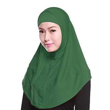 حجاب لون سادة نسائي - متعدد الطبقات بوليستر, أساسي / كل الفصول