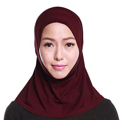 حجاب لون سادة نسائي - متعدد الطبقات بوليستر, أساسي / سكارف للشعر / كل الفصول