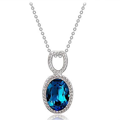 Žene Plav Kristal Vrhunski kristal Ogrlice s privjeskom Klasičan simuliran Romantični Moda Elegantno Imitacija dijamanta Austrijski kristal Legura Plava 45 cm Ogrlice Jewelry 1pc Za Zabava / večer