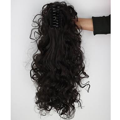Coadă de cal Fir de păr Buclat Clasic Păr Sintetic 18 inch Extensie de păr Zilnic