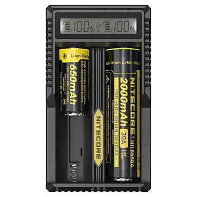 olcso Kemping felszerelések-Nitecore UM20 Akkumulátor töltő Sugárzók Smart USB LCD Áramkör-érzékelés Védett áramkör Rövidzárlat-védelem Kempingezés / Túrázás / Barlangászat Fekete