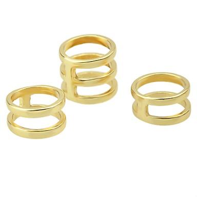 Žene Prstenasti set Midi prstenje Prstenovi koji se mogu slagati Kubični Zirconia 3pcs Zlato Srebro Legura dame Mértani Osnovni Dnevno Spoj Jewelry Slatko