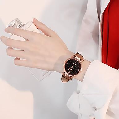 Žene Sat uz haljinu Kvarc Koža Crna / Crvena / Smeđa Casual sat Analog dame Moda Minimalistički - Braon Crvena Pink