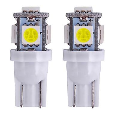 Недорогие Фары для мотоциклов-2pcs T10 Мотоцикл / Автомобиль Лампы 1 W SMD 5050 80 lm 5 Светодиодная лампа Лампа поворотного сигнала / Внутреннее освещение Назначение Универсальный Универсальный