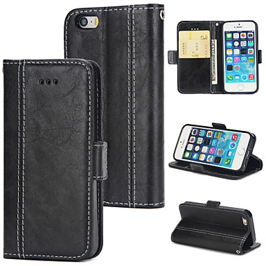 competitive price 8f126 b59e2 [$4.99] Case For Apple iPhone 5 Case Wallet / Card Holder / Flip Back Cover  Solid Colored Hard PU Leather for iPhone 5