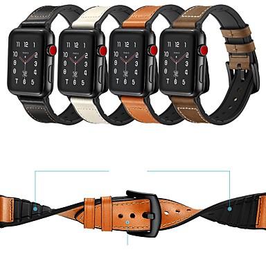 Pogledajte Band za Huami Amazfit Bip Younth Watch / Apple Watch Series 4/3/2/1 Apple Sportski remen / Klasična kopča Prava koža Traka za ruku