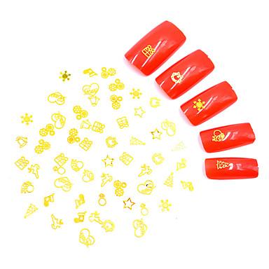 Metal Umjetni noktički savjeti 3D Nail Naljepnice Nakit za nokte Za Prst noktiju 3D sučelje / Posebni dizajn / Anti-Τριβή Totem Series Nakit serije Romantična serija nail art Manikura Pedikura