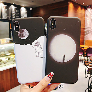 voordelige iPhone 6 Plus hoesjes-hoesje Voor Apple iPhone XS / iPhone XR / iPhone XS Max Glow in the dark / Mat / Patroon Achterkant Sexy dame / Landschap Hard PC