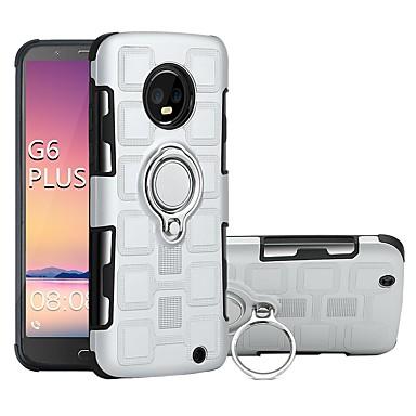 Недорогие Чехлы и кейсы для Motorola-Кейс для Назначение Motorola MOTO G6 / Moto G6 Plus / Moto G5s Plus Защита от удара / Кольца-держатели Кейс на заднюю панель броня Твердый ПК