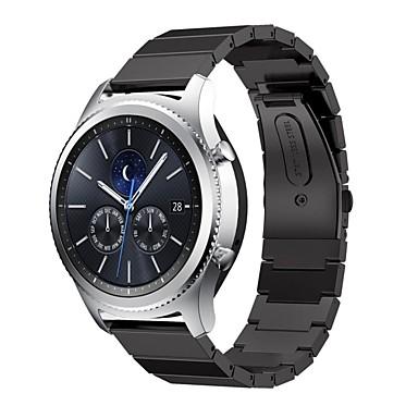 voordelige Horlogebandjes voor Samsung-Horlogeband voor Gear S3 Frontier / Gear S3 Classic Samsung Galaxy Sportband Roestvrij staal Polsband