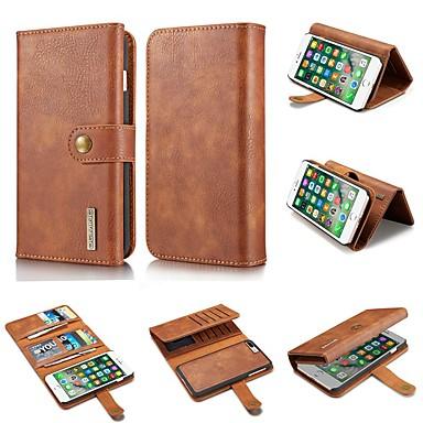 Недорогие Кейсы для iPhone 7 Plus-Кейс для Назначение Apple iPhone XS / iPhone XR / iPhone XS Max Кошелек / Бумажник для карт / Защита от удара Чехол Однотонный Твердый Настоящая кожа