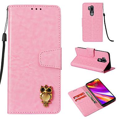 رخيصةأون LG أغطية / كفرات-غطاء من أجل LG LG G7 محفظة / حامل البطاقات / قلب غطاء كامل للجسم خطوط / أمواج قاسي جلد PU
