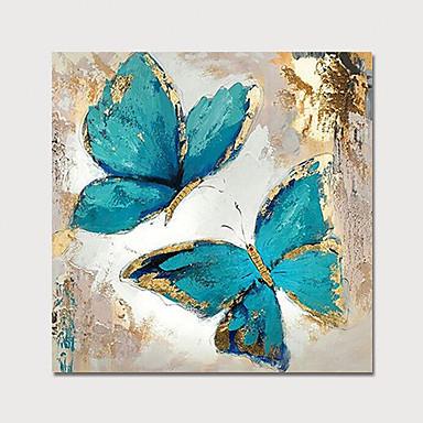 Hang oslikana uljanim bojama Ručno oslikana - Cvjetni / Botanički Moderna Bez unutrašnje Frame / Valjani platno