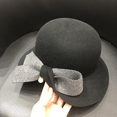 Elizabeta Čudesna gđa. Maisel Žene Odrasli dame Retro / vintage Klobučevine šešir Crn Braon Srebrna Color block Vintage Vuna Šeširi Lolita Pribor