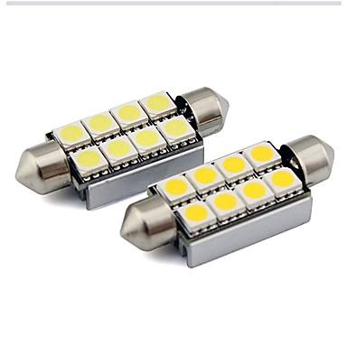 2pcs 36mm Automobil Žarulje 1 W SMD 5050 80 lm 6 LED Svjetla u unutrašnjosti Za Univerzális Univerzális Univerzalno