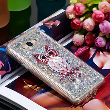 Θήκη Za Samsung Galaxy J7 (2016) Otporno na trešnju / Šljokice Stražnja maska Sova / Šljokice Mekano TPU