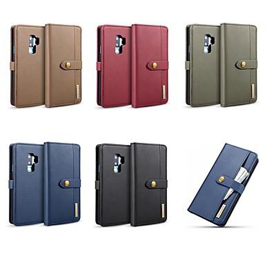 voordelige Galaxy Note-serie hoesjes / covers-hoesje Voor Samsung Galaxy Note 9 / Note 8 Kaarthouder / Schokbestendig / met standaard Volledig hoesje Effen Hard aitoa nahkaa