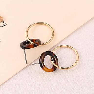 Žene Viseće naušnice Klasičan Hiperbola Korejski Moda Naušnice Jewelry Kava Za Klub Jabuka 1 par