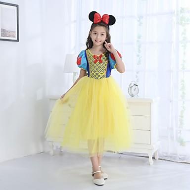 Drugi kostimi Princeza Kostim za party Cvjetna djevojka haljina Dječji Djevojčice Crtići Halloween Halloween Maškare Festival / Praznik Akril vlakna Yellow+Blue Karneval kostime Crtani film / Haljina