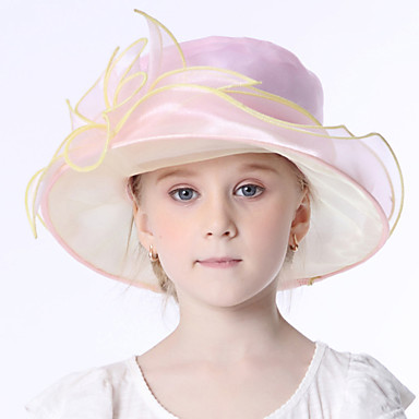 Elizabeta Čudesna gđa. Maisel Djevojčice Dječji Retro / vintage Klobučevine Kentucky Derby Hat Fascinator Hat šešir Pink Cvijet Organza Šeširi Lolita Pribor