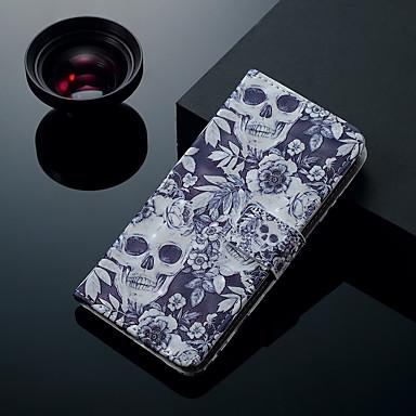 Θήκη Za Samsung Galaxy S9 / S9 Plus / S8 Plus Utor za kartice / sa stalkom / Zaokret Korice Lubanje Tvrdo PU koža