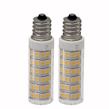 2pcs 4.5 W LED klipaste žarulje 450 lm E12 T 76 LED zrnca SMD 2835 Zatamnjen Toplo bijelo Hladno bijelo 220 V