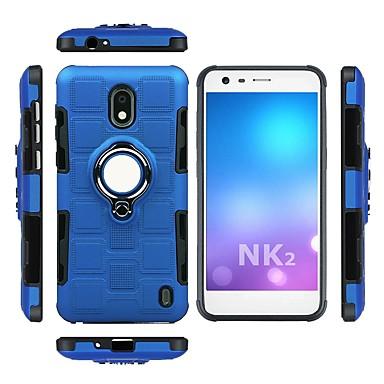 Недорогие Чехлы и кейсы для Nokia-Кейс для Назначение Nokia Nokia 8 / Nokia 2 Защита от удара / Кольца-держатели Кейс на заднюю панель броня Мягкий ТПУ