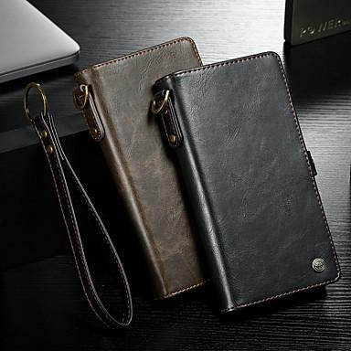 Недорогие Чехлы и чехлы-Кейс для Назначение Apple iPhone 6s Plus / iPhone 6 Plus Кошелек / Бумажник для карт / Флип Чехол Однотонный Твердый Кожа PU