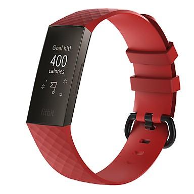 olcso Nézd Zenekarok Fitbit-Nézd Band mert Fitbit Charge 3 FitBit Sportszíj / Hagyományos csat Szilikon Csuklópánt