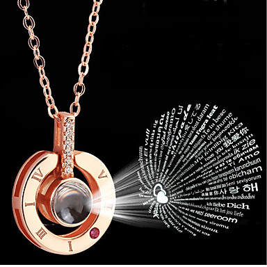 Žene Srebro Charm Necklace Klasičan Luksuz Stil višenja Boho nehrđajući Rose Gold 46 cm Ogrlice Jewelry 1pc Za Izlasci Voljeni