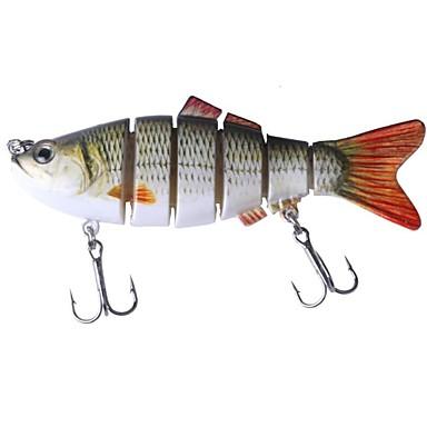 1 pcs Δόλωμα Momeală Dură Rezistent la uzură Ușor de Instalat Ușor de transportat Scufundare Bass Păstrăv Ştiucă Pescuit mare Aruncare Momeală pescuit de Crap Plastice Crom / Pescuit Biban