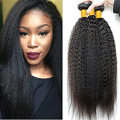 3 paketa Yaki Straight Virgin kosa Remy kosa Ljudske kose plete Produžetak Bundle kose 8-28 inch Prirodna boja Isprepliće ljudske kose Nježno Sexy Lady Novi Dolazak Proširenja ljudske kose