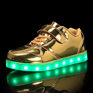 povoljno Beba & Djeca-Dječaci Svjetleće tenisice PU Sneakers Mala djeca (4-7s) / Velika djeca (7 godina +) Zlato / Srebro / Pink Jesen
