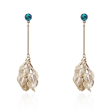 6be2a110f Metal Earrings - S925 Sterling Silver Peacock Retro / Vintage, European,  Fashion Gold / Silver For Party Gift Women's / 1 Pair #07073532